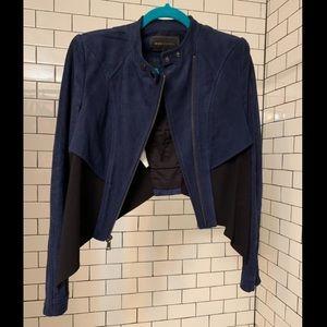 BCBG suede moto jacket